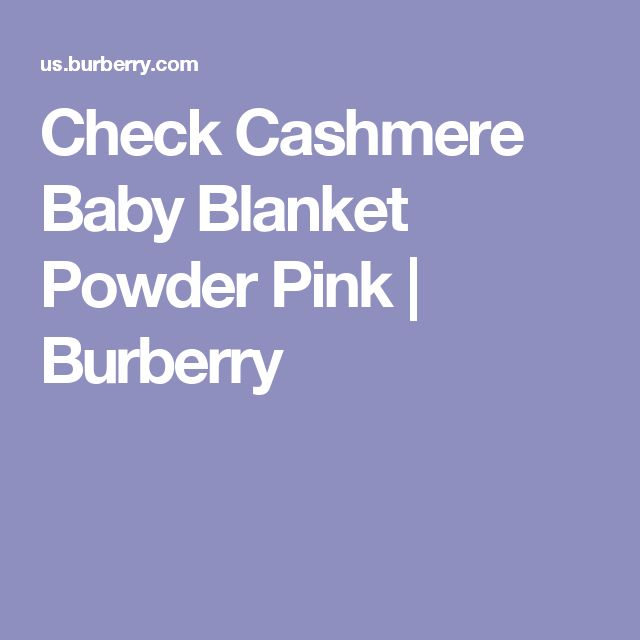 Check Cashmere Baby Blanket Powder Pink | Burberry
