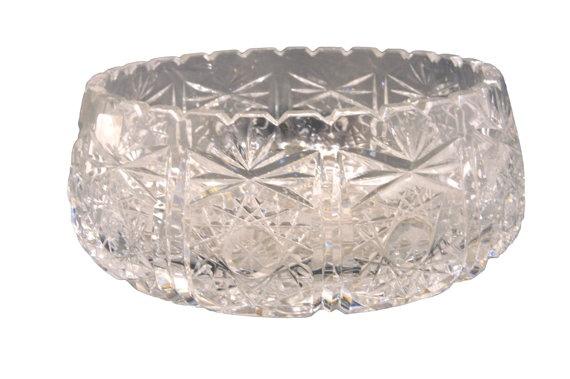 SALE  Leaded Crystal Pinwheel Hobstar Diamond and by ogdenlane,