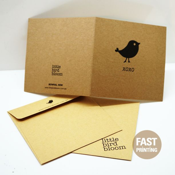 Eco Friendly Stock with Craft #Thankyoucard #FPcard #fastprinting