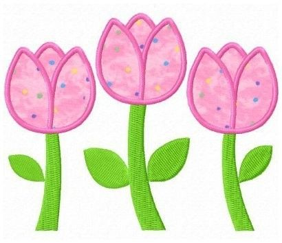 Tulips applique
