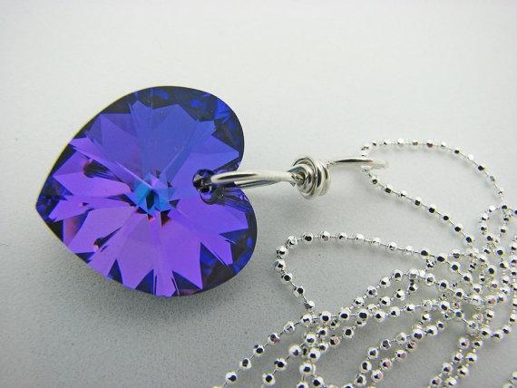 Heliotrope Swarovski Necklace from Carol's Jewelry Garden <3