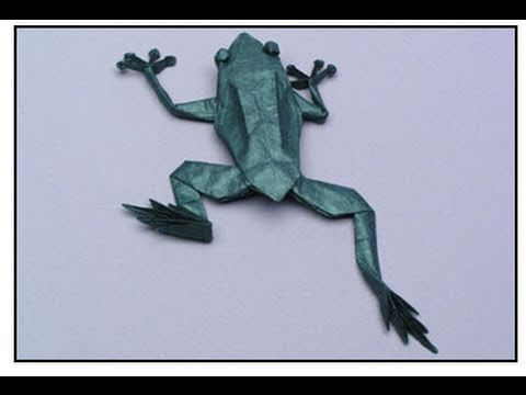 Excellent Video Tutorial for Origami Tree Frog (Robert J. Lang model) --IF you…