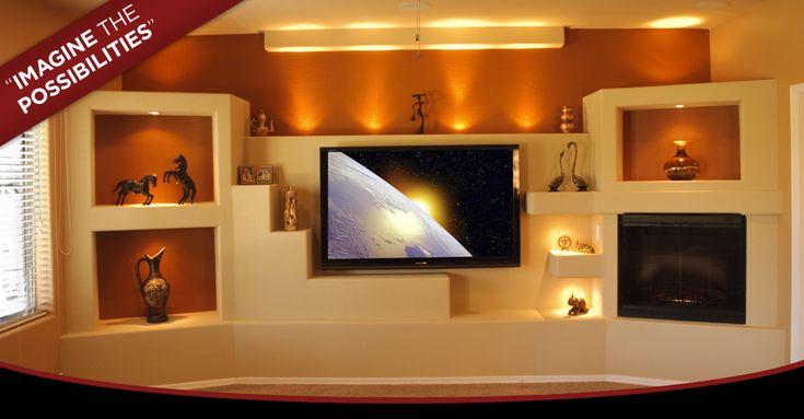 custom built in media center | Custom Media Wall