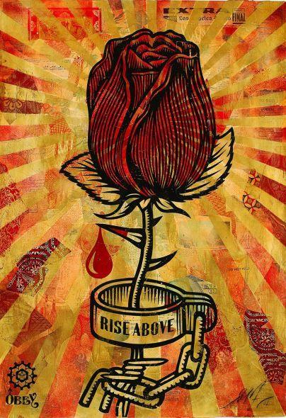 Expostion à Epinal : Images d'Obey Shepard Fairey, Rose Shakle, 2006, crédit : Obey Giant Studio