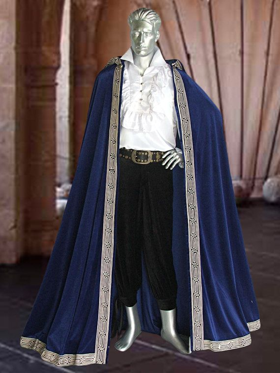 Medieval Renaissance Royal Style Cape Cloak for by ...