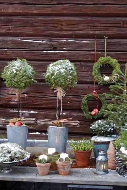 Christmas garden - Kerst in de tuin! Hoe gezellig is deze tuintafel!