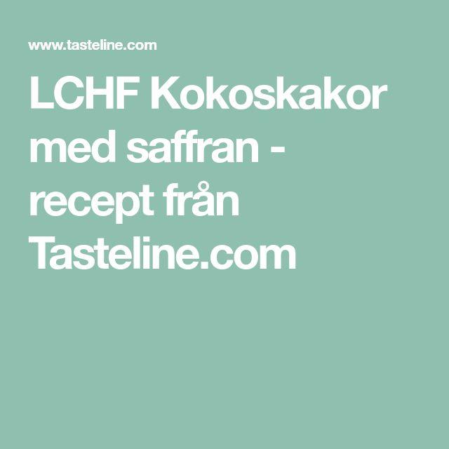 LCHF Kokoskakor med saffran - recept från Tasteline.com