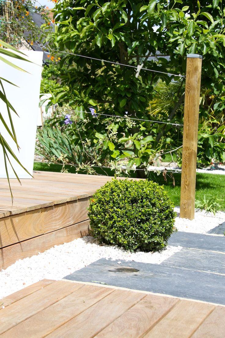 Terrasse bois terrasse pierre | Arbor Minéral Vannes Morbihan