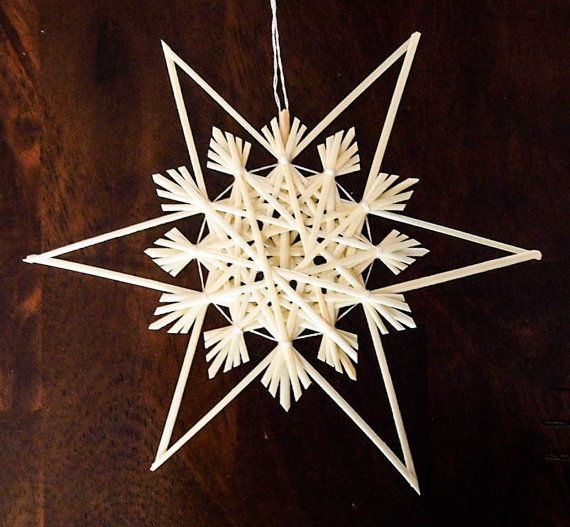 Ornement étoile de traditionnel allemand paille par RedRowanDesigns, $8.00