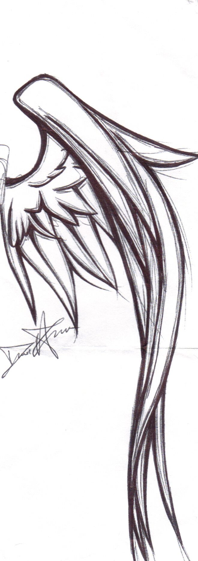 Wing Tattoo Design by kitty-kit
