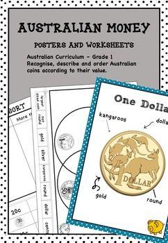 australian money posters and worksheets higher order thinking hots grade 1 kids school stuff. Black Bedroom Furniture Sets. Home Design Ideas