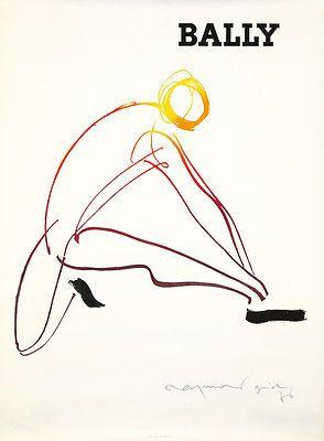 Original Vintage Poster Bally Swiss Shoes 1976 Raymond Gid Fashion