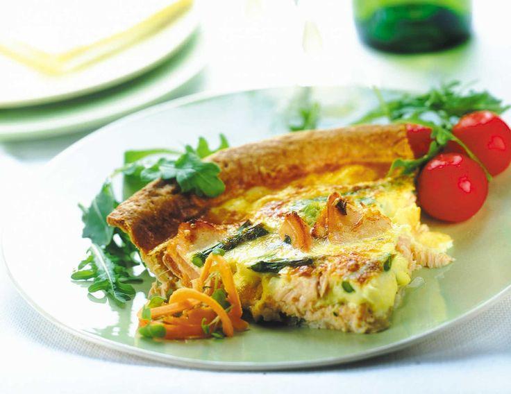 """Gran día para un """"Quiché de Salmón"""", solo pide tú #filete de #salmón #Marecosta. www.marecosta.cl"""