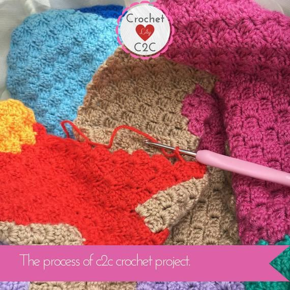 Puzzle - C2C Crochet Pattern Blanket - INSTANT DOWNLOAD