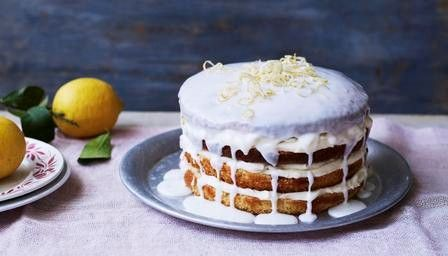 Whole lemon cake with lemon cheesecake icing from  BBC Food by Mary Berry
