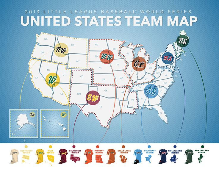 29 Best Play Ball The Story Of Little League Baseball Images On - Map Of Us Baseball Teams