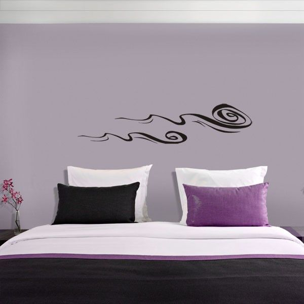 Chinese ink waves wall sticker