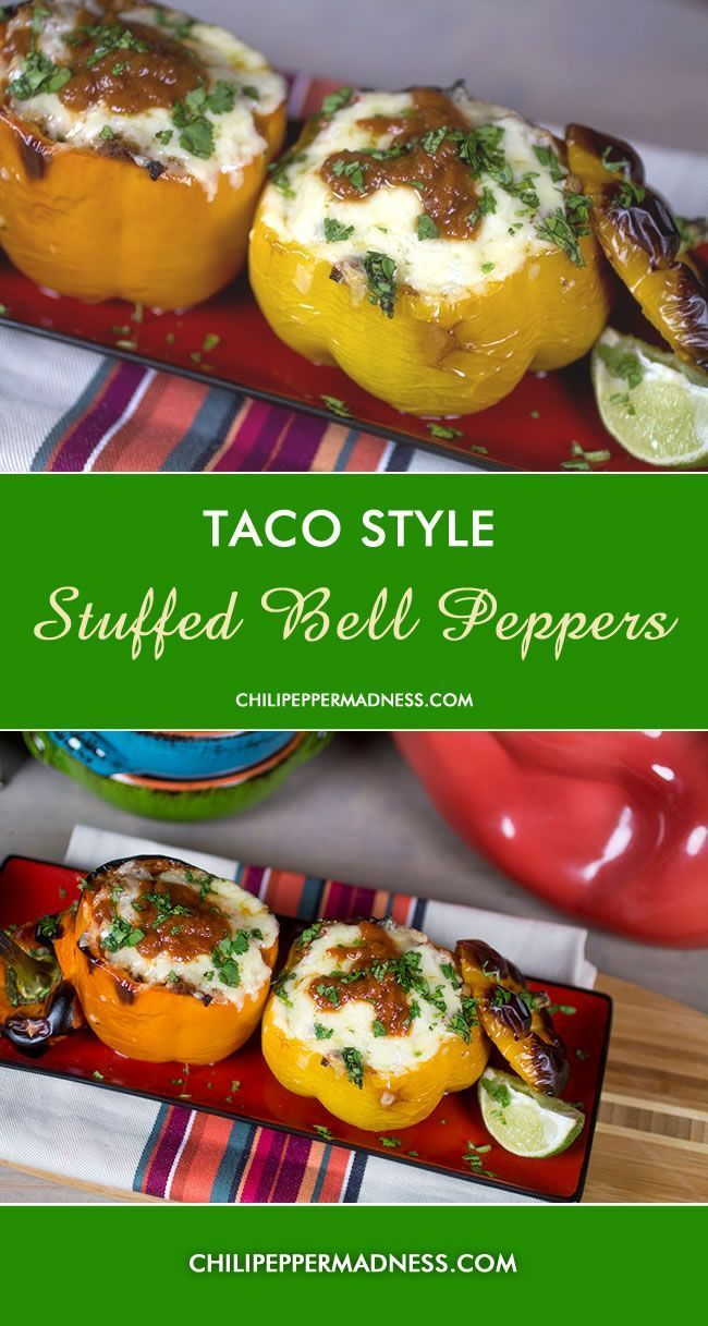 Taco Style Stuffed Bell Peppers | Chili Pepper Madness