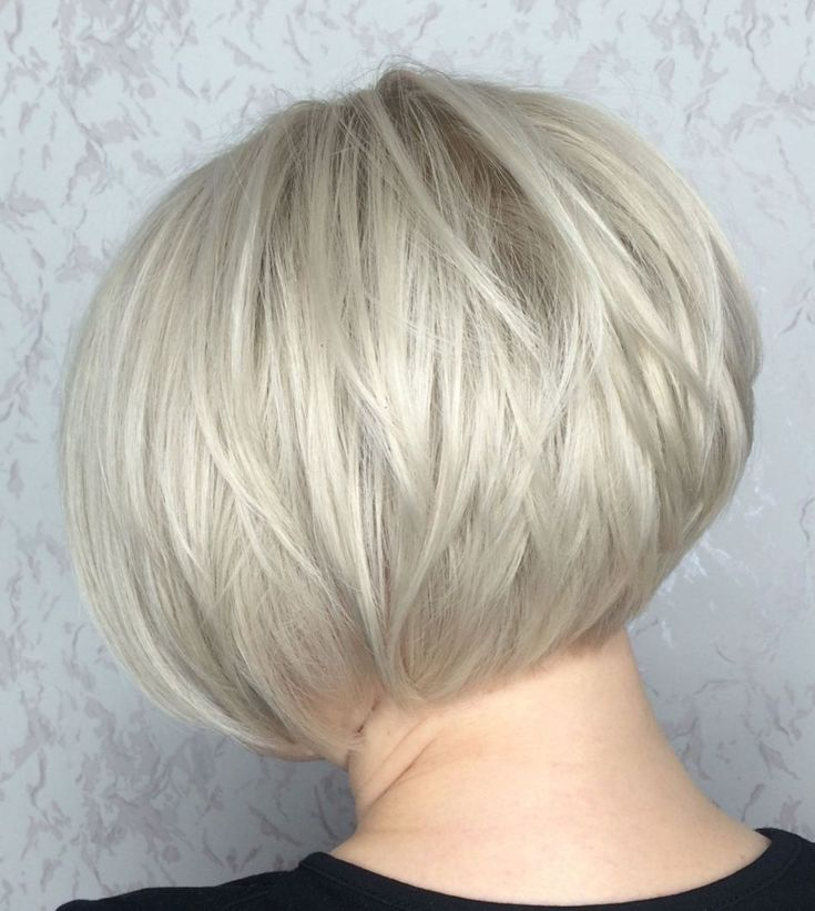 Super Short Silver Bob For Fine Hair