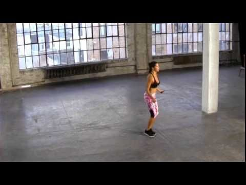 Adriana Lima & Michael Olajide Jr. rev up Fashion Show prep with a series of full-body drills.