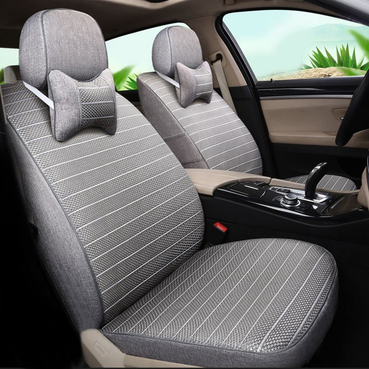 Car Seat Covers Ice Silk Fabric Styling fit for Suzuki Jimny Seat Cover Set Grey Car Seats Covers Protector Interior Accessories #Affiliate