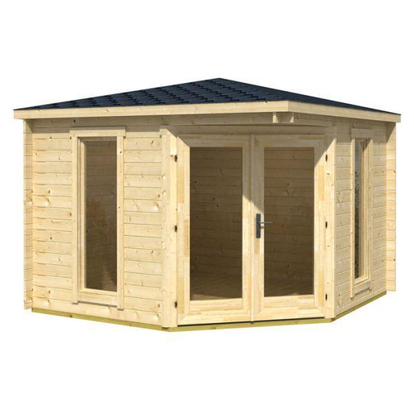 greenway 28m x 28m ashdown corner log cabin log cabins - Corner Garden Sheds 8x8