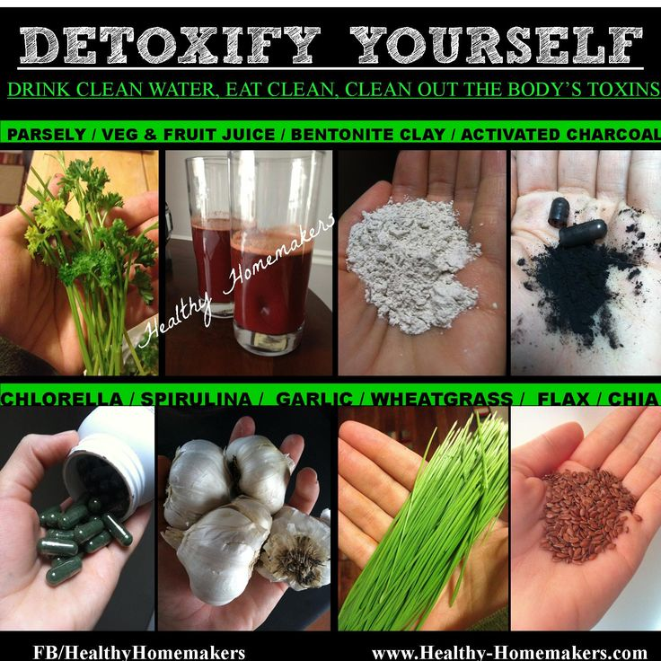 detoxify yourself naturally parsley, juice, bentonite clay, activated charcoal, chlorella, spirulina, wheat grass, flax & chia seed