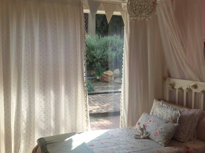 Emma's room -  by Inca Interiors. All roses and polkadots. www.incainteriors.co.za