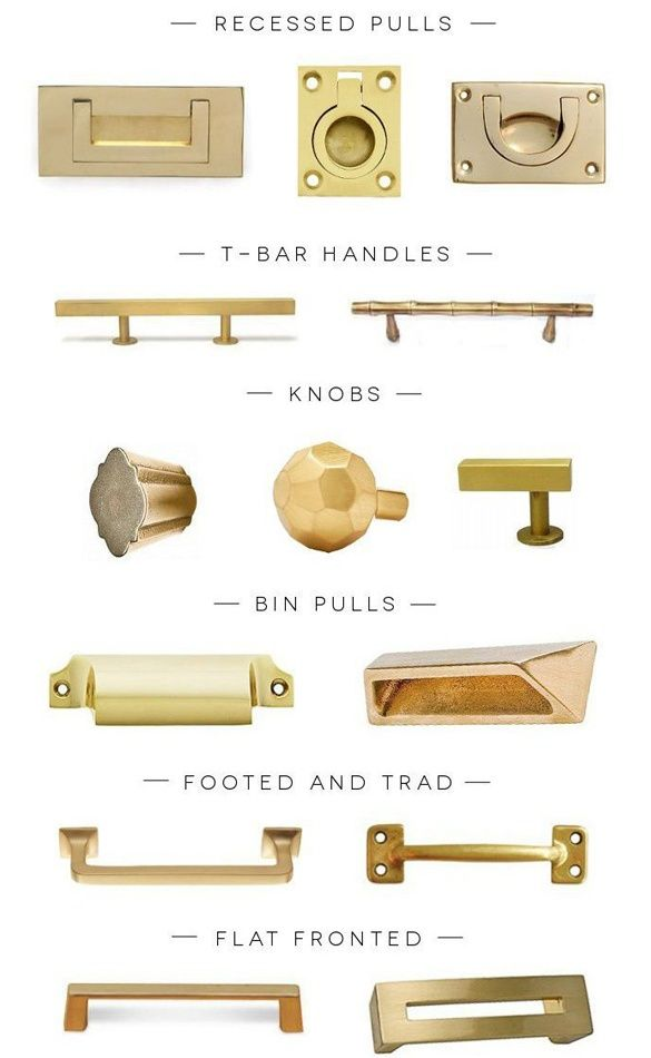 Brass Hardware White Kitchen Pinterest
