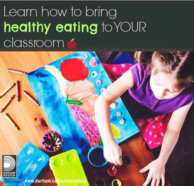 """Help provide students with the knowledge and skills needed to make healthy food choices. For sample strategies and lesson plan ideas, check out the """"Bringing Healthy Eating to the Classroom"""" resource. #teaching #healthyeating #classroomideas"""