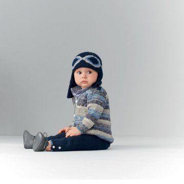 FREE PATTERN - Bonnet aviateur bébé Bergère de France (Source : http://www.marieclaireidees.com/,un-bonnet-de-bebe-style-aviateur,152439.asp?xtor=EPR-6-[14%2F10%2F14) #knitting #baby #hat