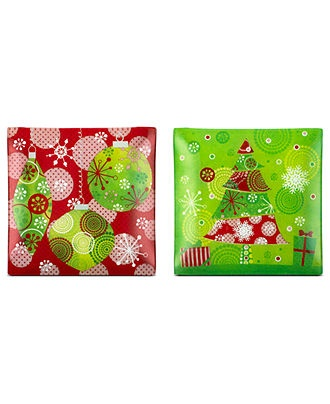 Ganz Christmas Serveware Set of 4 Christmas Tree Snack Plates - Holiday Lane - Macyu0027s  sc 1 st  Pinterest & 447 best 14. Appetizer Tidbit Canopy u0026 Dessert Plates images on ...