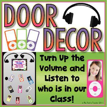 iPod Door/Bulletin Board Decor {FREE!}