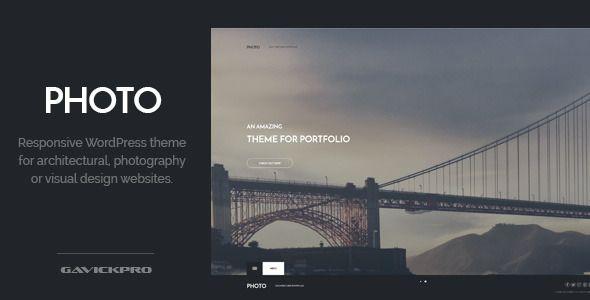 Photo Architecture WordPress Theme - Corporate WordPress