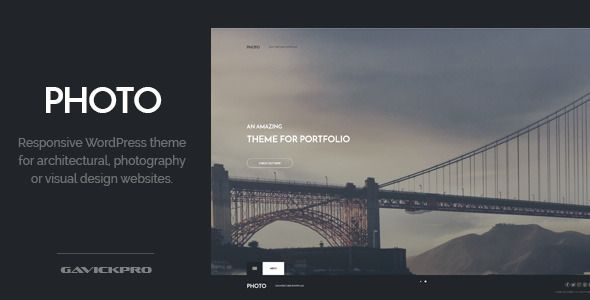 Photo Architecture WordPress Theme - Corporate WordPress