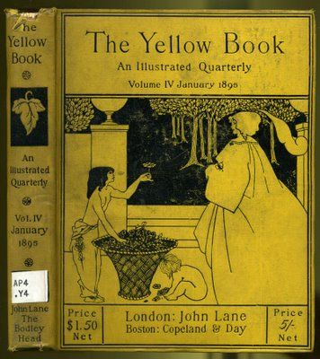 The Yellow Book - whoose contributors included - Aubrey Beardsley    Aubrey Beardsley The Yellow Book