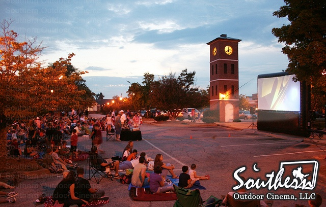 Movies on the Market is a series of outdoor movie events in a small South Carolina town. The movies series helps draw guests to the redeveloped downtown area.
