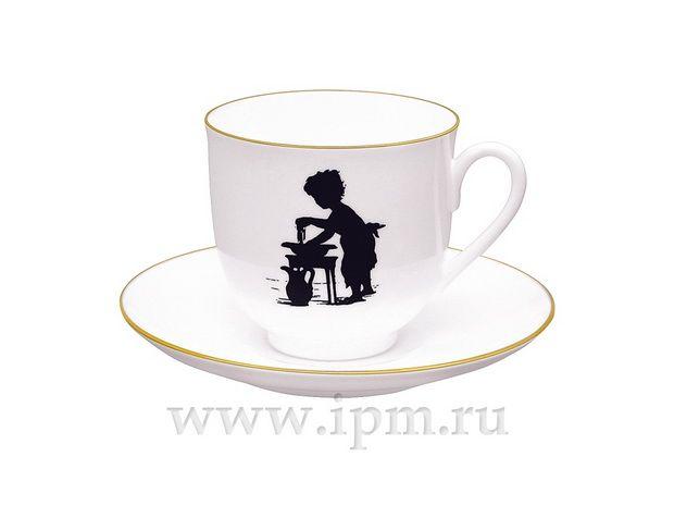 """Чашка с блюдцем кофейная Ландыш """"Умывание"""" 180 мл  арт. 81.15708.00.1"""