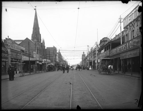 William Street, looking north between St Georges Tce. and Hay St., Perth. Circa 1900-1910.