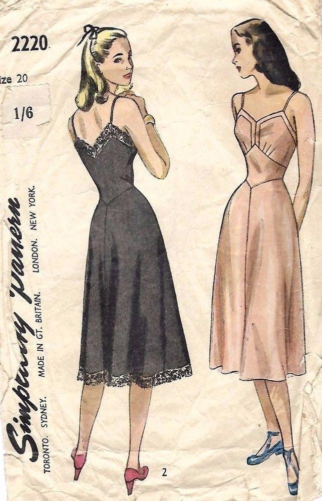 Fashion Flashback Wwii Women S Fashion: Details About Vintage 1940's Sewing Pattern Women's Pretty
