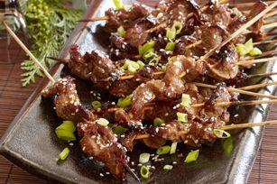 Brochettes de bœuf à la coréenne - Faciles à faire et relevées de sauce Sriracha #recette