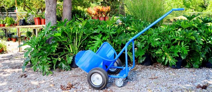 Potwheelz® garden dolly moves potted plants easily