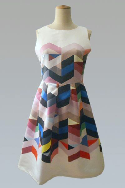geometric dress... pair with a blazer for those who work in more creative environments