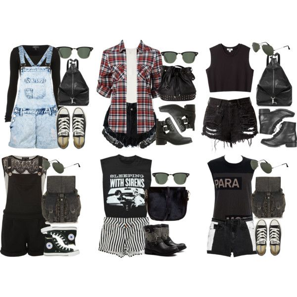 warped tour outfits by alyucma on Polyvore featuring Forever New, Nomia, Topshop, rag & bone, Cameo Rose, Monki, H&M, Miss Selfridge, Ash and Converse