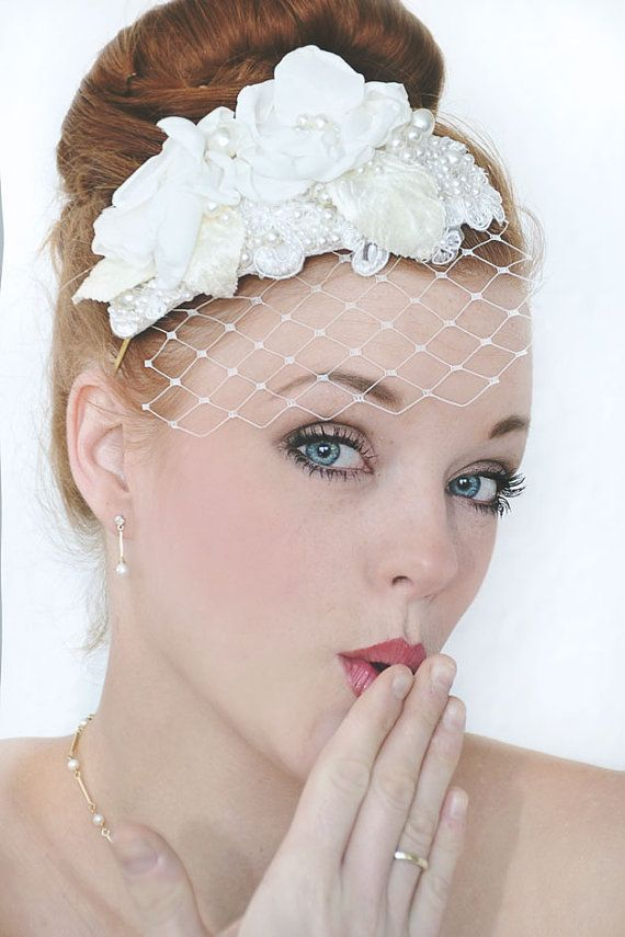 My Pretty Filippa bridal hat  Exclusive birdcage by SoBridelicious, $130.00
