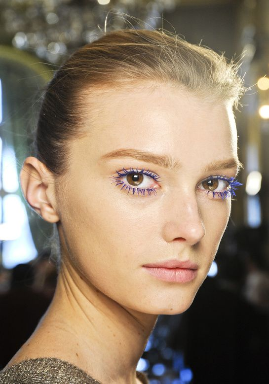 Top make-up trends for Fall 2012: Flashy mascara at Stella McCartney.    An expe…