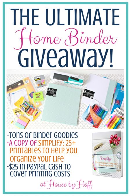 The Ultimate Home Binder Giveaway! - House by Hoff