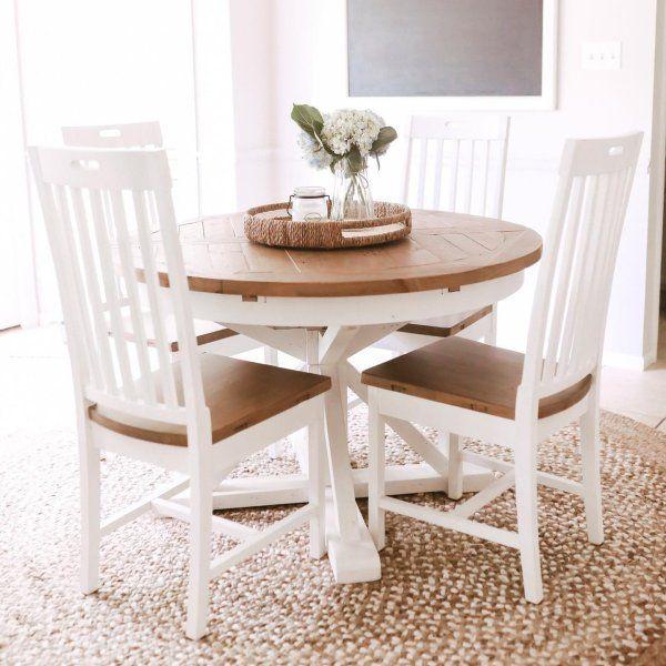 Hart Round Reclaimed Wood Pedestal Extending Dining Table Extendable Dining Table Kitchen Table Wood Repurposed Dining Table
