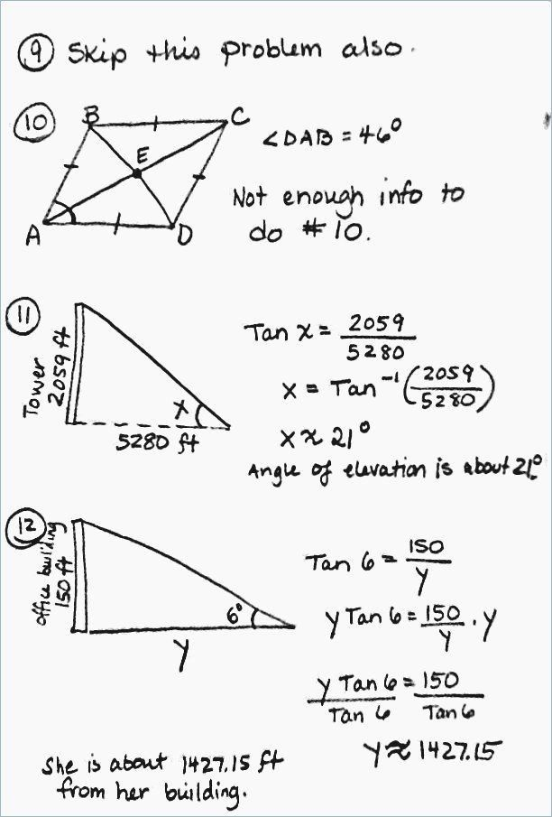 Right Triangle Word Problems Worksheet - worksheet