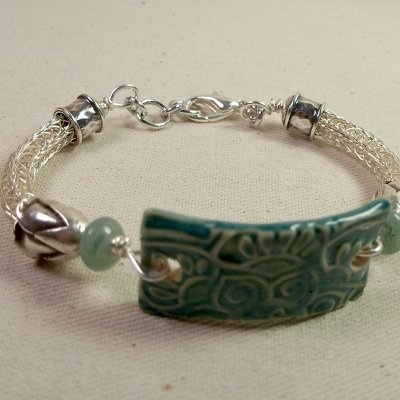 Ceramic Bracelet Bar with Viking Knit @Carrie Dawn ...check out this bit with the Viking knit